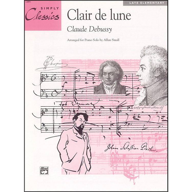 AlfredDebussy Clair de lone (from Suite Bergamasque) Late Elementary Piano Sheet