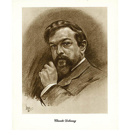 Music Sales Debussy (Lupas Small Portrait Poster) Music Sales America Series-thumbnail