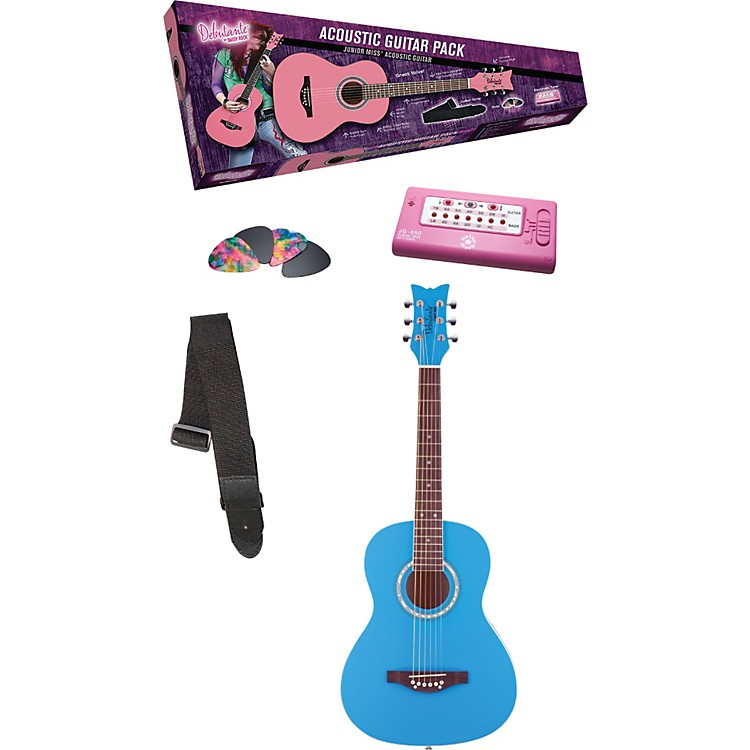 Daisy Rock Debutante Junior Miss Acoustic Guitar Pack Popsicle Purple