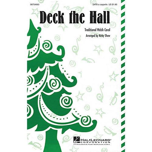 Hal Leonard Deck the Hall SATB a cappella arranged by Kirby Shaw-thumbnail