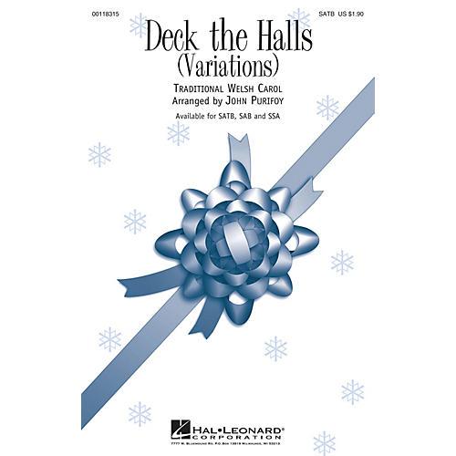 Hal Leonard Deck the Halls (Variations) SAB Arranged by John Purifoy-thumbnail