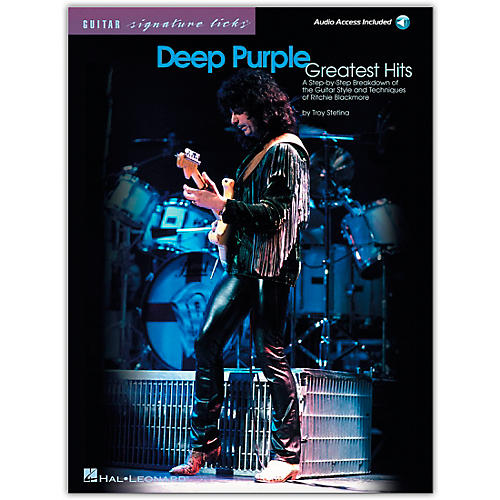 Hal Leonard Deep Purple Greatest Hits Guitar Signature Licks Book with CD