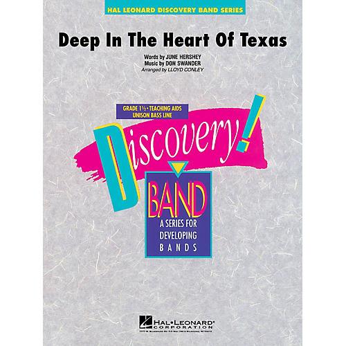 Hal Leonard Deep in the Heart of Texas Concert Band Level 1 1/2 Arranged by Lloyd Conley