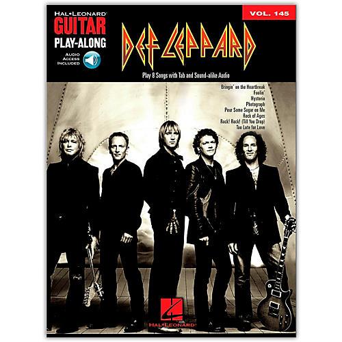 Hal Leonard Def Leppard Guitar Play-Along Volume 145 (Book/Online Audio)-thumbnail