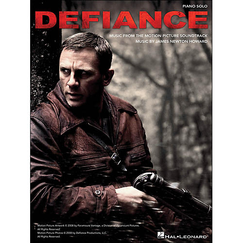 Hal Leonard Defiance - Music From The Motion Picture Soundtrack arranged for piano solo