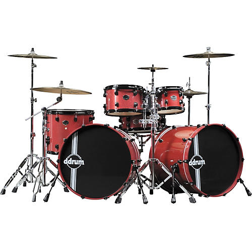 Ddrum Defiant 6-Piece Red Sparkle Double Bass Shell Pack