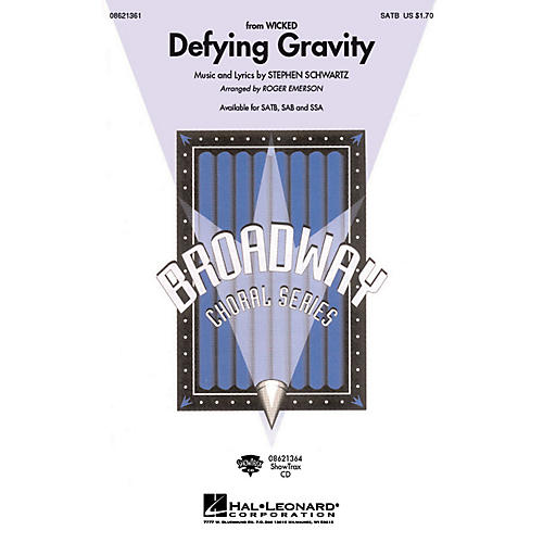Hal Leonard Defying Gravity (from Wicked) SATB arranged by Roger Emerson-thumbnail