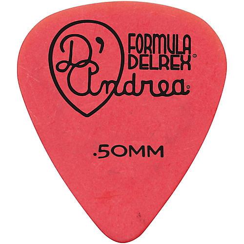 D'Andrea Delrex Delrin Guitar Picks - One Dozen Red .50 mm