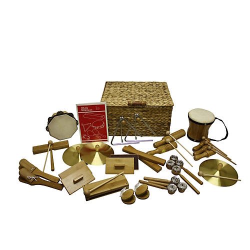 Rhythm Band Deluxe 25 Player Bamboo Rhythm Kit Bamboo