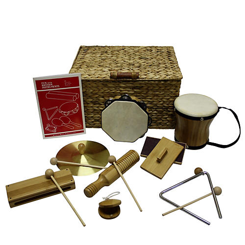Rhythm Band Deluxe 9 Player Rhythm Kit Bamboo