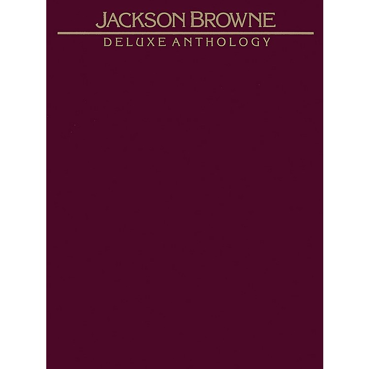 Alfred Deluxe Anthology by Jackson Browne  Vocal, Piano/Chord Book
