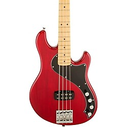Deluxe Dimension Bass IV Maple Fingerboard Electric Bass Guitar Transparent Crimson Red
