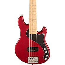 Deluxe Dimension Bass V Maple Fingerboard Five-String Electric Bass Guitar Transparent Crimson Red