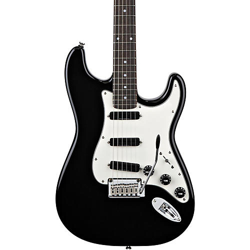 Squier Deluxe Hot Rails Strat Electric Guitar Black