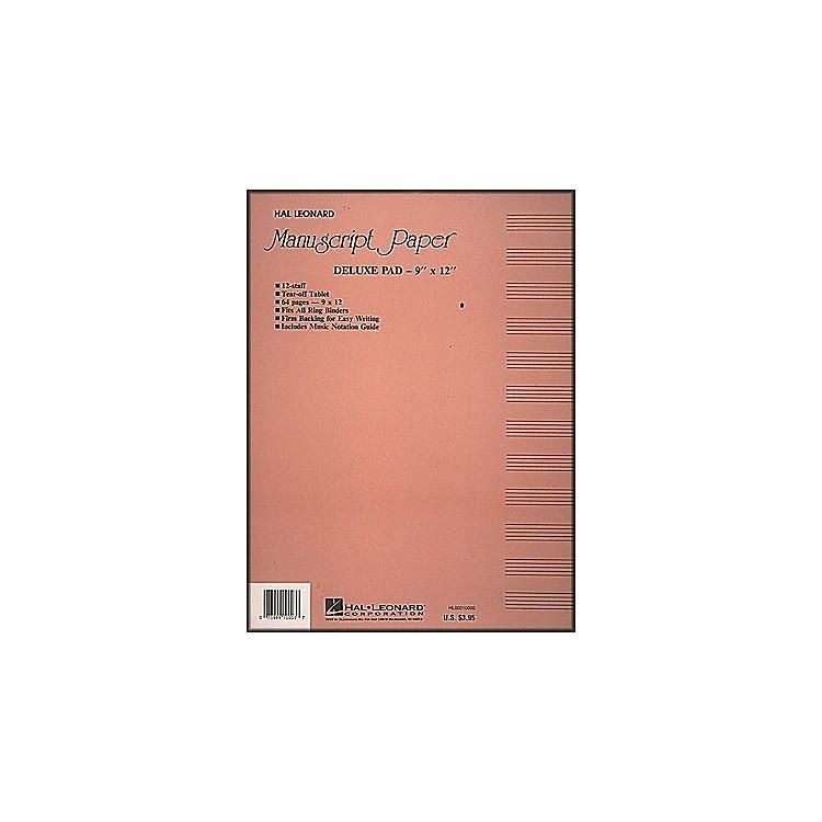 Hal LeonardDeluxe Manuscript Paper Pad (9 X 12)