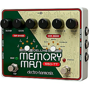 electro harmonix deluxe memory man tap tempo 550 delay guitar effects pedal musician 39 s friend. Black Bedroom Furniture Sets. Home Design Ideas