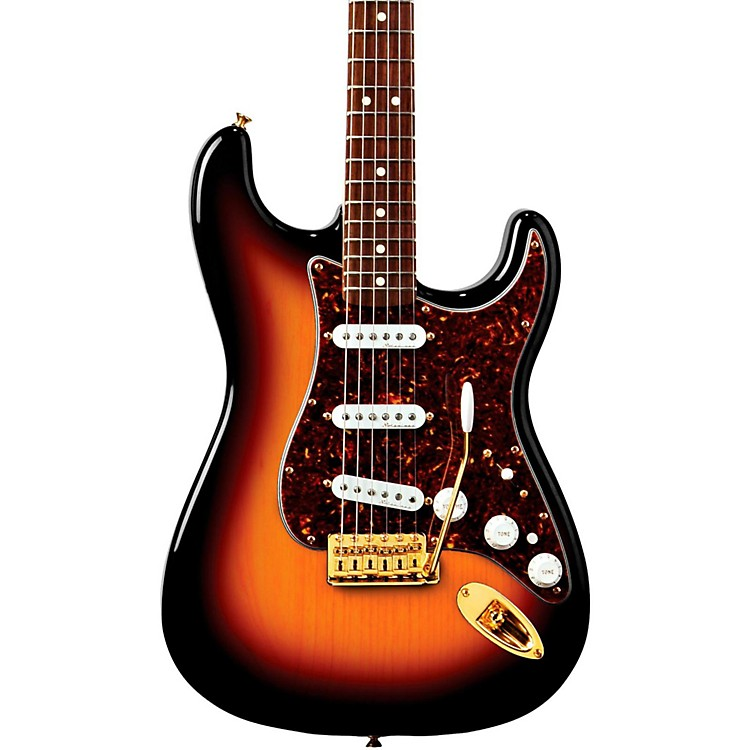 Fender Deluxe Player's Stratocaster Electric Guitar 3-Color Sunburst Rosewood Fretboard
