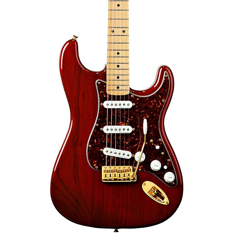 Fender Deluxe Player's Stratocaster Electric Guitar Crimson Red Transparent Maple Fretboard
