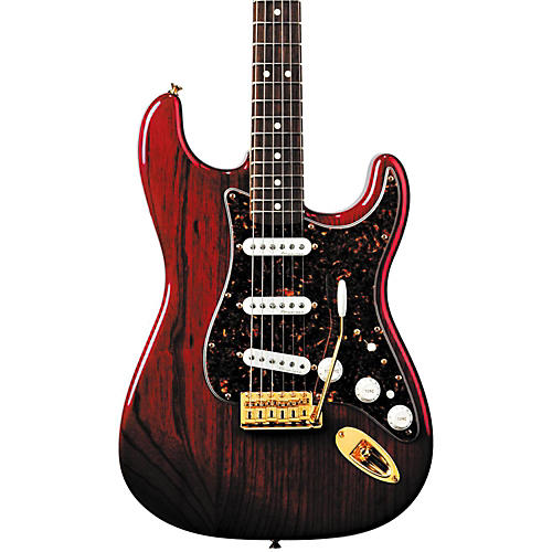 Fender Deluxe Players Stratocaster Electric Guitar Transparent Crimson Red Rosewood Fretboard
