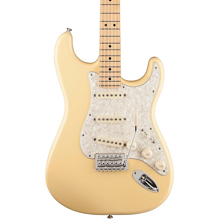 Fender Deluxe Roadhouse Stratocaster Electric Guitar Vintage White Maple Fretboard