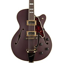 Deluxe Series Limited Edition 175 Hollowbody Electric Guitar with TV Jones Pickups and Bigsby B-30 Matte Plum Tortoise Pickguard