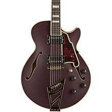 Deluxe Series Limited Edition EX-SS with Stairstep Tailpiece Semi-Hollowbody Electric Guitar Matte Plum Tortoise Pickguard