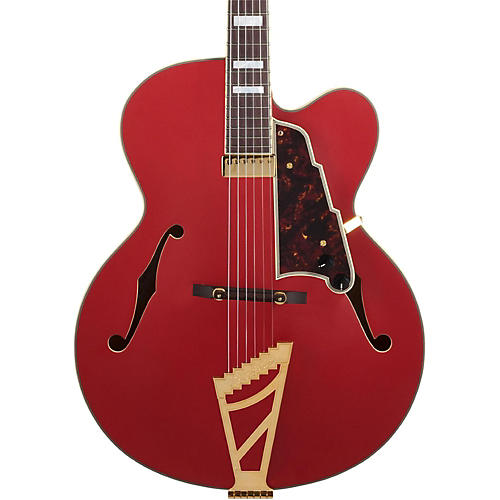 D'Angelico Deluxe Series Limited Edition EXL-1 Hollowbody Electric Guitar with Seymour Duncan Floating Pickup and Stairstep Tailpiece-thumbnail