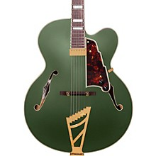 D'Angelico Deluxe Series Limited Edition EXL-1 Hollowbody Electric Guitar with Seymour Duncan Floating Pickup and Stairstep Tailpiece Matte Emerald Tortoise Pickguard