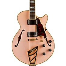 Deluxe Series Limited Edition SS Semi-Hollow Electric Guitar with Custom Seymour Duncan Pickups and Stairstep Tailpiece Rose Pink Tortoise Pickguard