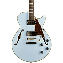 Deluxe Series Limited Edition SS  Semi-Hollowbody Electric Guitar with Custom Seymour Duncan Pickups Matte Powder Blue Tortoise Pickguard