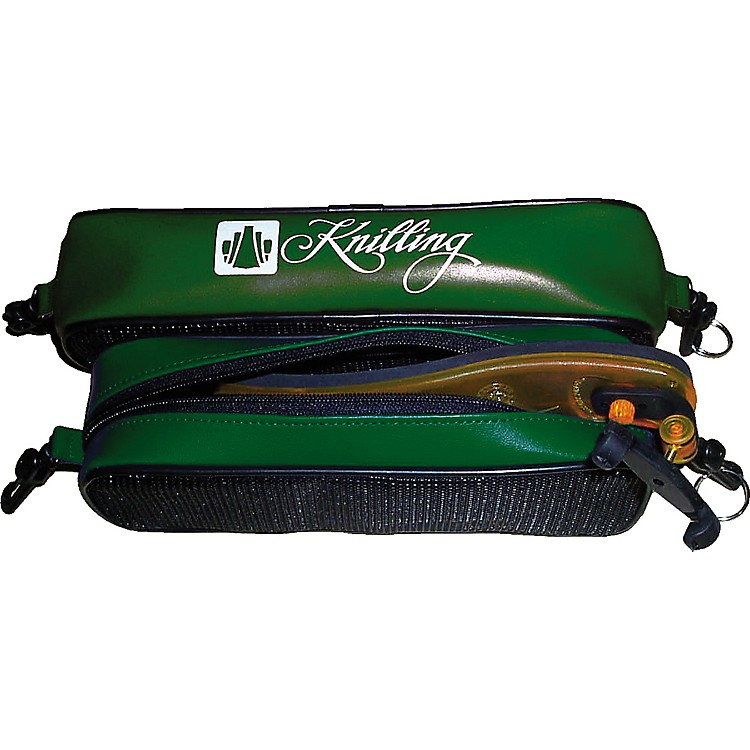 Knilling Deluxe Shoulder Rest Pouch Large (Fits 4/4 Violin Or Viola), Green