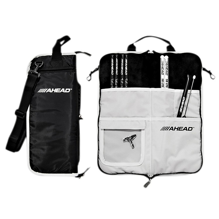 Ahead Deluxe Stick Bag Black with Gray Trim/Gray Interior
