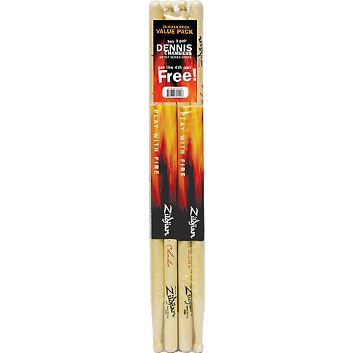 Zildjian Dennis Chambers Drumsticks, Buy 3 Get 1 Free