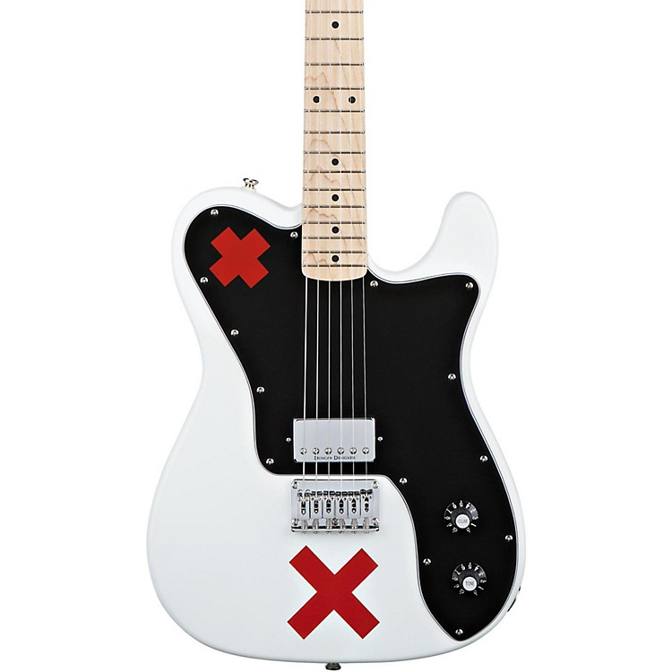 Squier Deryck Whibley Telecaster Electric Guitar Olympic White