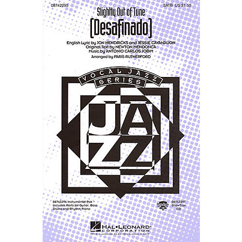 Hal Leonard Desafinado (Slightly Out of Tune) ShowTrax CD Arranged by Paris Rutherford-thumbnail