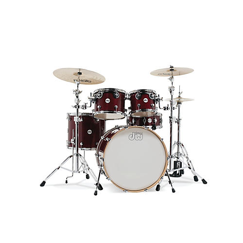 DW Design Series 5-Piece Lacquer Shell Pack with Chrome Hardware