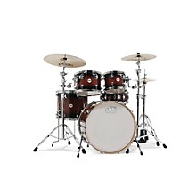DW Design Series 5-Piece Lacquer Shell Pack with Chrome Hardware Tobacco Burst