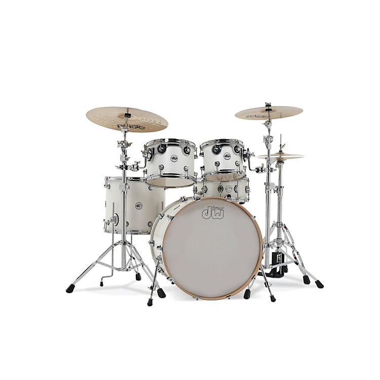 DWDesign Series 5-Piece Lacquer Shell Pack with Chrome HardwareWhite Satin