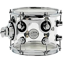 DW Design Series Acrylic Tom with Chrome Hardware 8 x 7 in. Clear