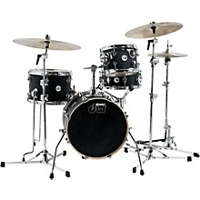 "DW Design Series Mini-Pro 4-Piece Shell Pack with 16"" Bass Drum Satin Black"
