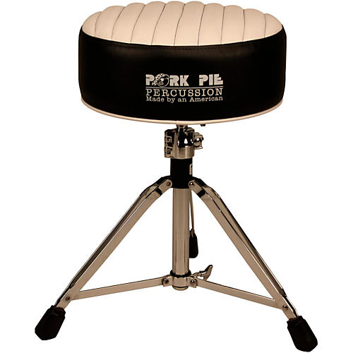 Pork Pie Deuce Tuck and Roll Round Drum Throne-thumbnail ...  sc 1 st  Musicianu0027s Friend & Pork Pie Deuce Tuck and Roll Round Drum Throne Black with White ... islam-shia.org