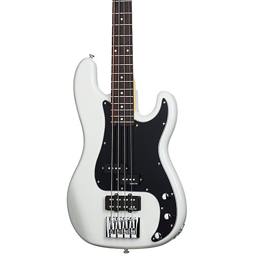 Schecter Guitar Research Diamond-P Custom Electric Bass Guitar Vintage White