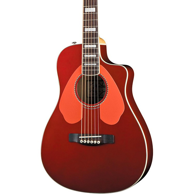 Fender Dick Dale Signature Malibu SCE Acoustic-Electric Guitar Surfin' Red