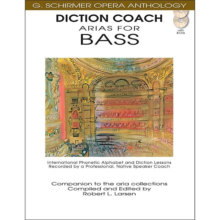G. SchirmerDiction Coach - Arias for Bass G. Schirmer Opera Anthology Book/2CD's
