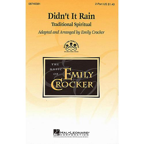 Hal Leonard Didn't It Rain 2-Part arranged by Emily Crocker