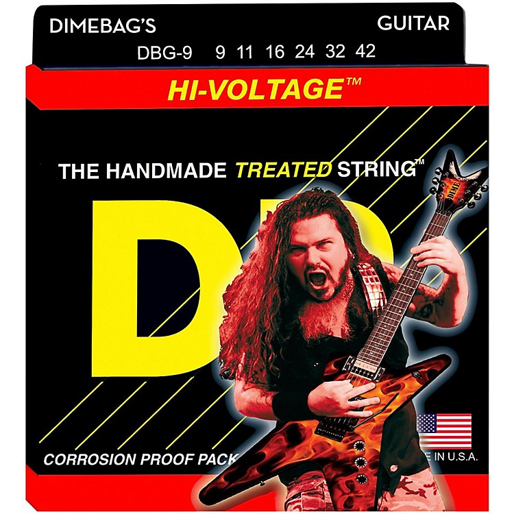 DR Strings Dimebag Darrell DBG-9 Lite Hi-Voltage Electric Guitar Strings