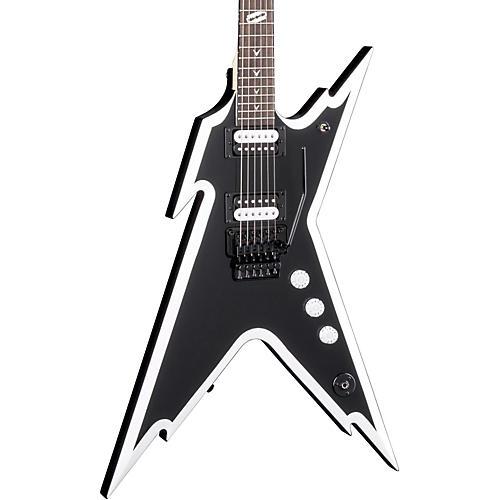 dean dimebag razorback db electric guitar with floyd rose bridge black and white musician 39 s friend. Black Bedroom Furniture Sets. Home Design Ideas