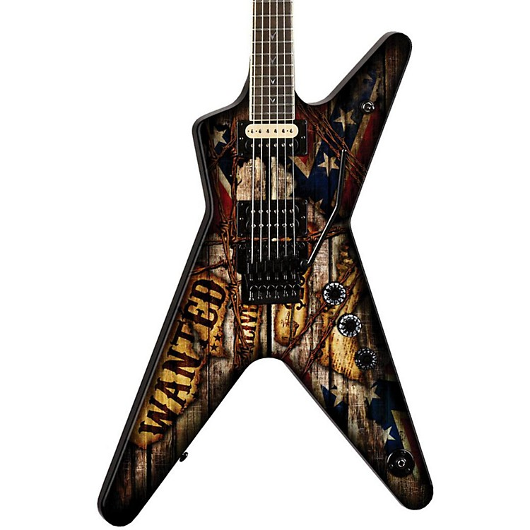 Dean Dimebag Wanted ML Electric Guitar Graphic