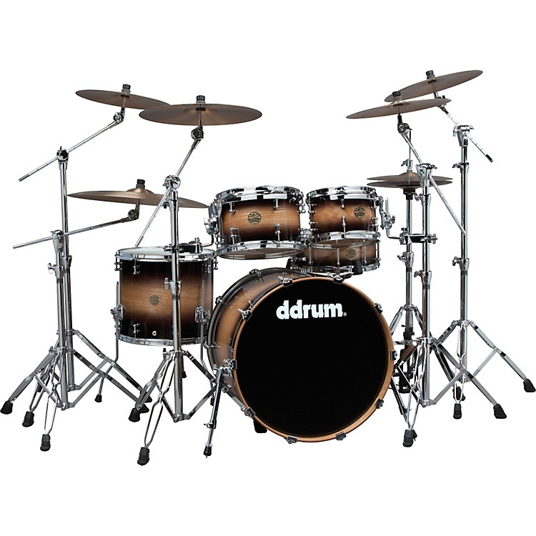 ddrum Dios Ash 5-Piece Shell Pack Black Burst