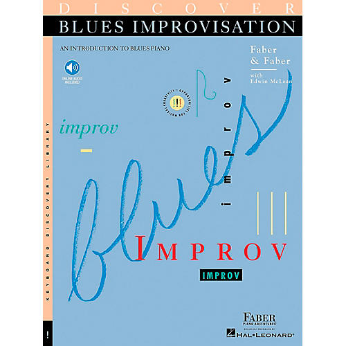 Faber Piano Adventures Discover Blues Improvisation Faber Piano Adventures Series Softcover with CD Written by Nancy Faber-thumbnail